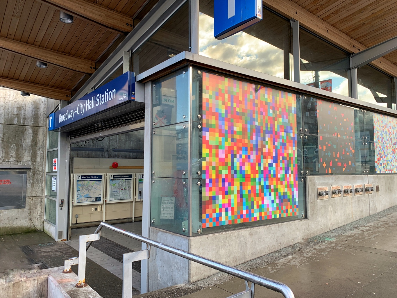Peter Owusu-Ansah at the Broadway-City Hall Skytrain Station